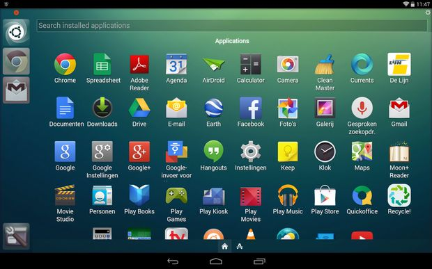 Ubuntu Launcher in Tablet Android