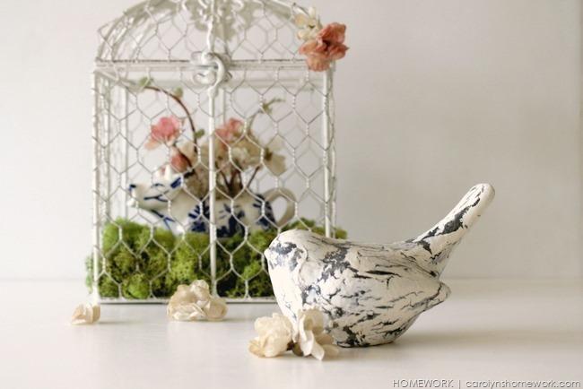 Spring Birdcage via homework  | carolynshomework.com)