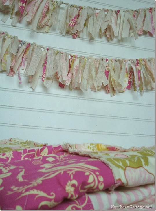 {Northern Cottage} Darling Banner and Ruffle Rag Quilt Set