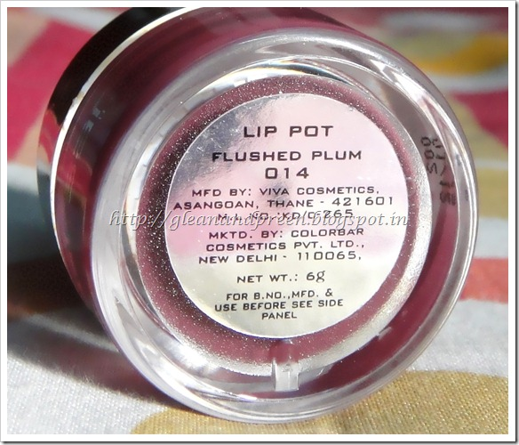 Colorbar Lip Pot Flushed Plum Review