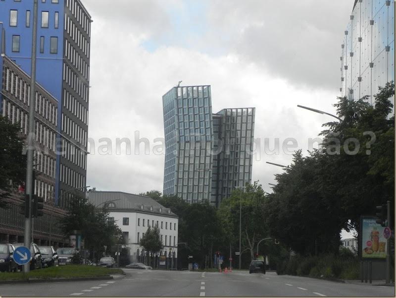 Edifício interessante no centro de Hamburgo