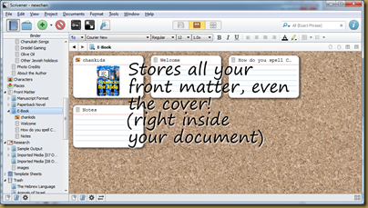 Scrivener writing software, from Literature and Latte
