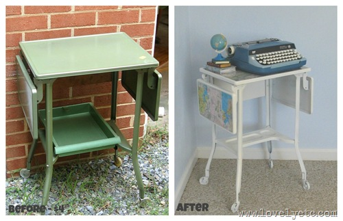 map typewriter stand before and after