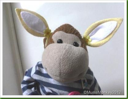 Easter Bunny Ear Hair clips
