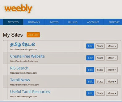 Weebly-Dashboard