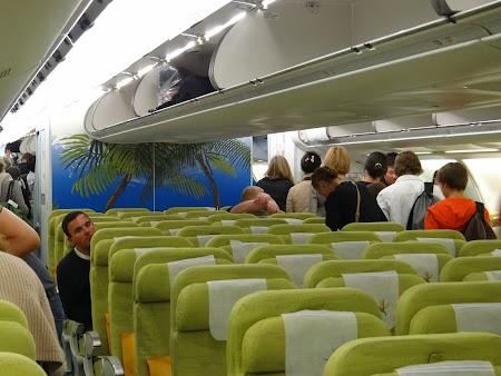Interior avion Air Mauritius