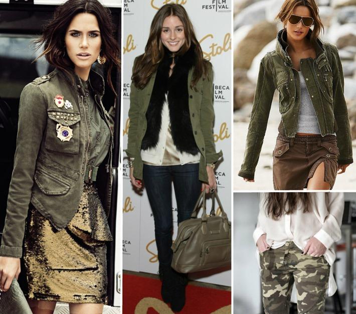moda militar looks militarismo inverno
