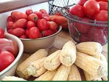 corn & tomatoes