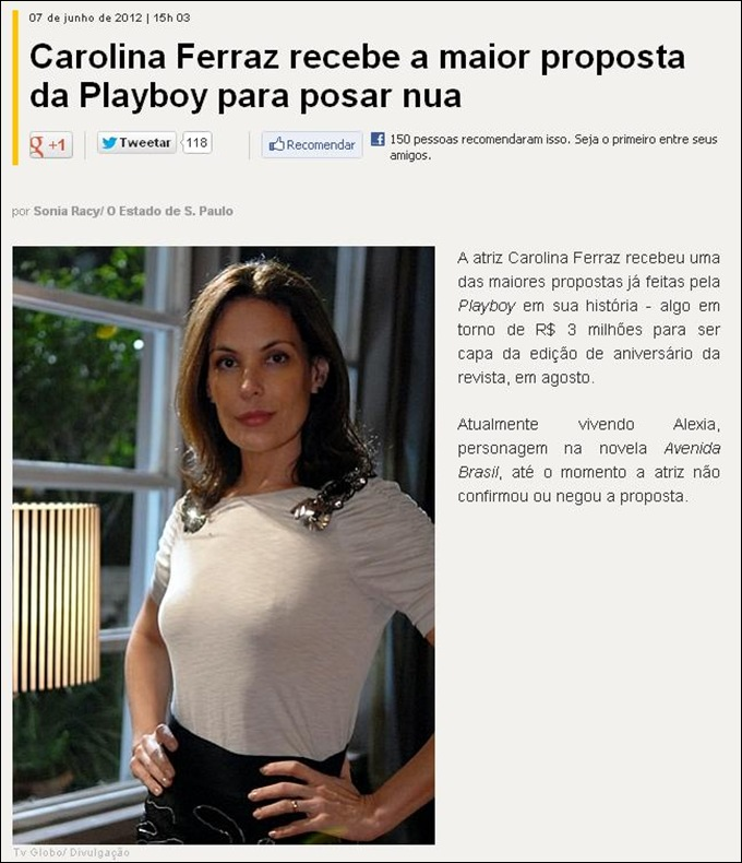 carolina ferraz 3 milhoes playboy