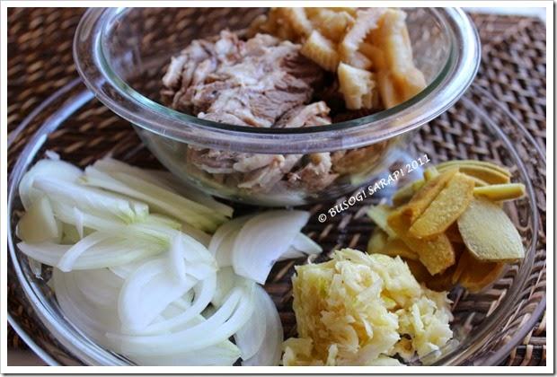 GOTO (FILIPINO BEEF CONGEE) INGREDIENTS1© BUSOG! SARAP! 2011