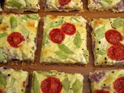 Cheese and Tomato Mustard Tart