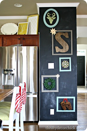 chalkboard gallery wall 
