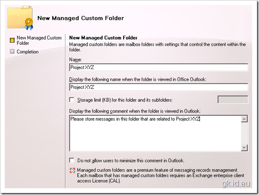SharePoint Exchange Management Records