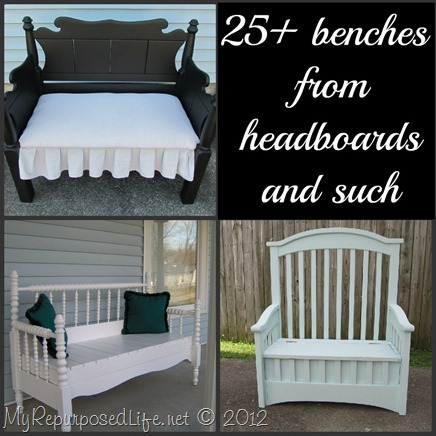 25+ bencches from headboards and more