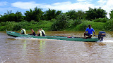 One Of Our Group's Canoes Headed Downstream - Suva, Fiji
