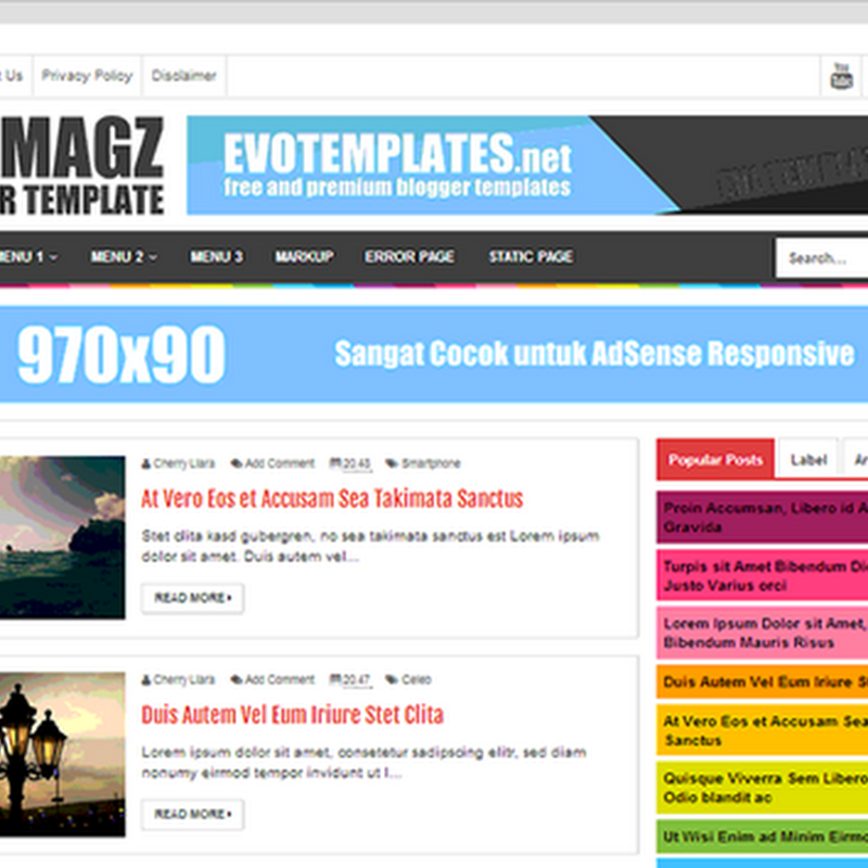 Download template EVO MAGZ gratis