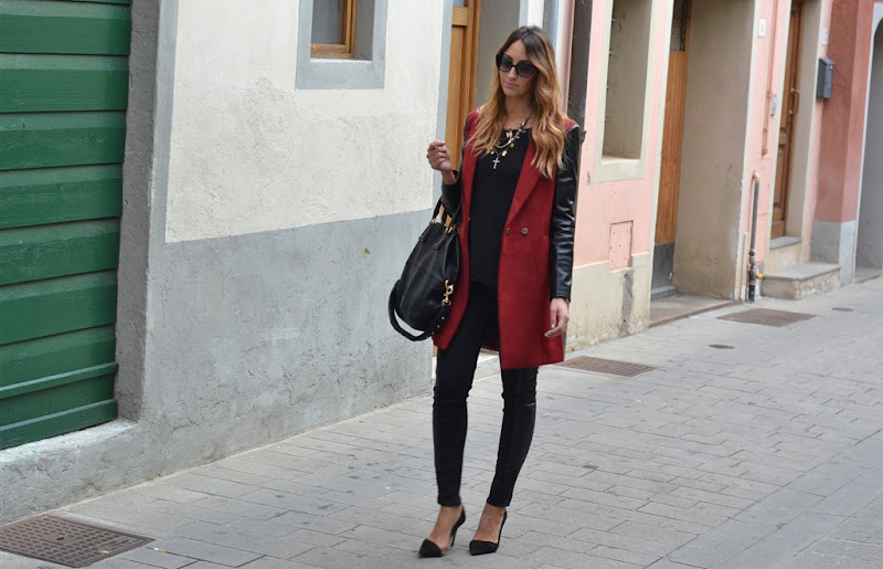 Sheinside, Sheinside coat, Zara, Zara pumps, Zara shoes, italian fashion bloggers, fashion blogger italiane, fashion blogger firenze, H&M, Dior sunglasses, Givenchy Bag, Givenchy Bugatti bag