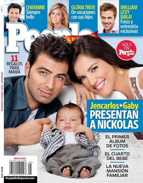 Gaby Espino y Jencarlos Canela presentan a su hijo Nickolas