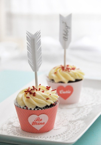 cupid cupcake toppers