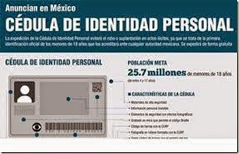 Registro cedula de identidad personal para mexicanos menores de edad 2015 2016