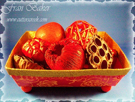 Potpourri Basket Filled