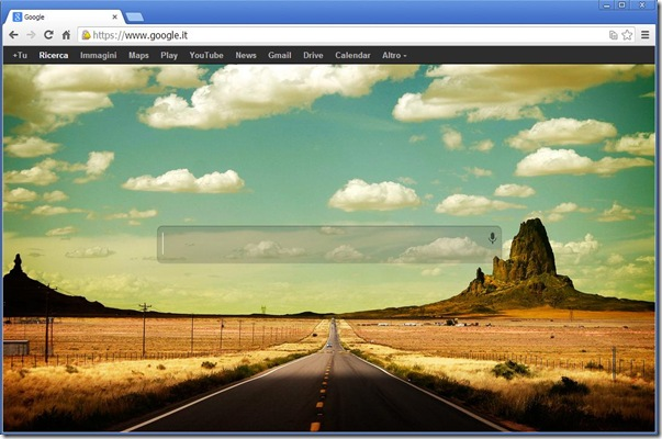 Custom Google Background risultato