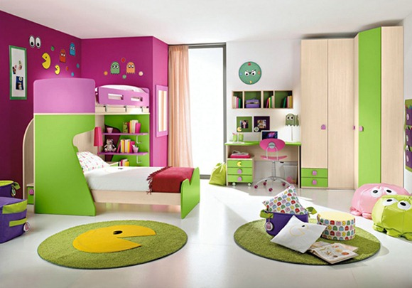 dormitorios multicolores para niños, niñas y adolescentes