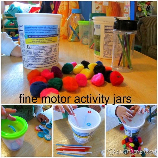 fine motor activity jars