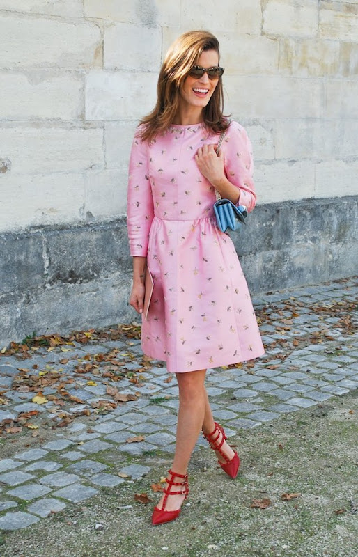 Hanneli Mustaparta pink Valentino Paris Fashion Week Oct 2012 7