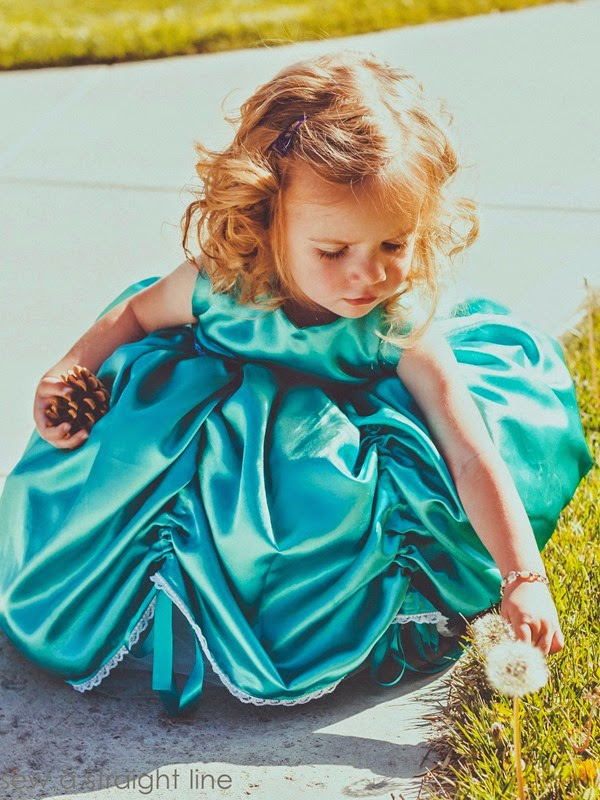 5 & 10 designs princess dress sew a straight line-9