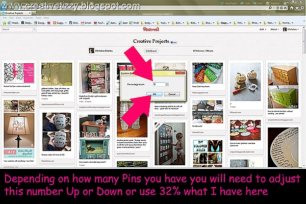 Pinterest Zoom Percentage Specific