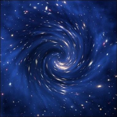 ilustração da rotação do Universo