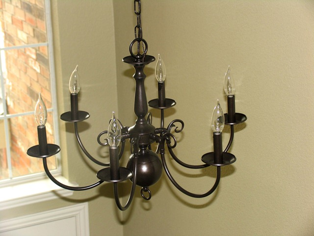 Rustoleum Oil Rubbed Bronze Spray Paint Builder Grade Chandelier 3