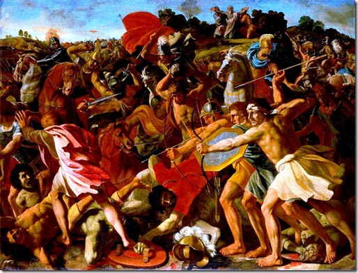 victory-of-joshua-over-the-amalekites. Nicolas Poussin, 1594-1665 sm