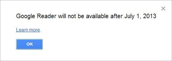 Google Reader закрывают