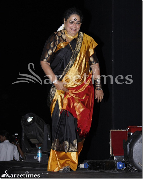 Usha_Uthup_Black_Silk_Saree