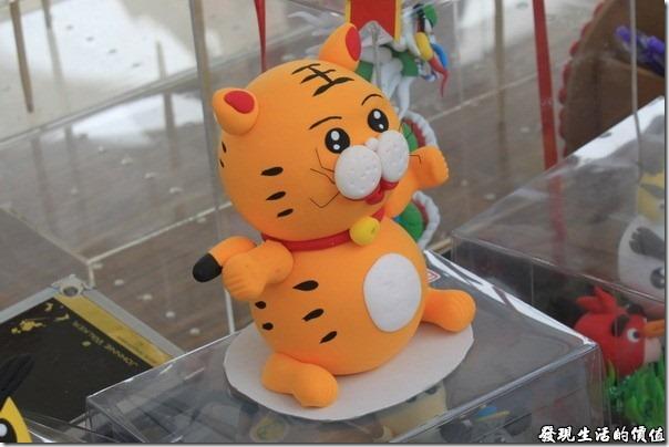 台南-台灣歷史博物館。民俗攤位上不太像老虎的「巧虎」?