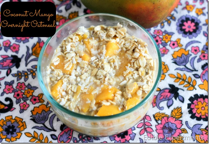 Mango Coconut Overnight Oatmeal
