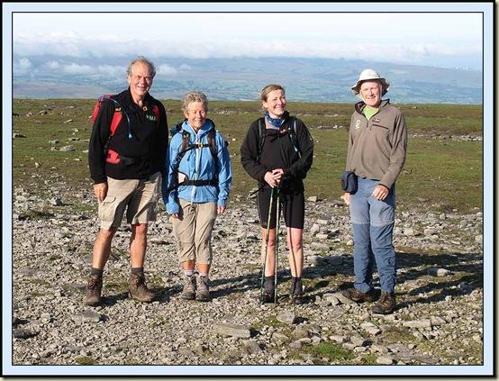 Roger, Jacky, Heather and Martin on the summit of Ingleborough