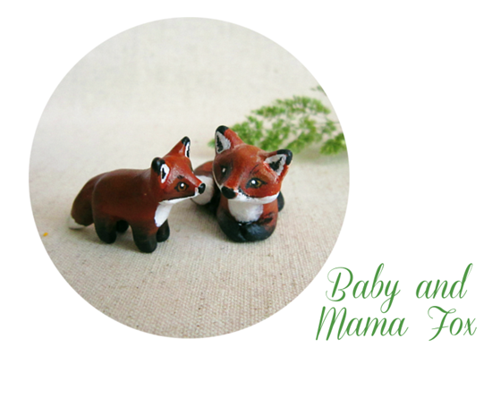 baby and mama fox blog