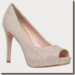 Carvela metallic peep toe court