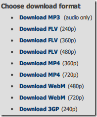 Formato de download