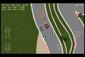 Screenshot of Racing 2D