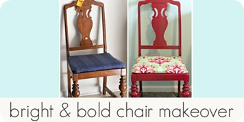 bright & bold chair makeover