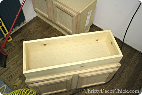 bench out of kitchen cabinets