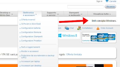 Dell consiglia Windows