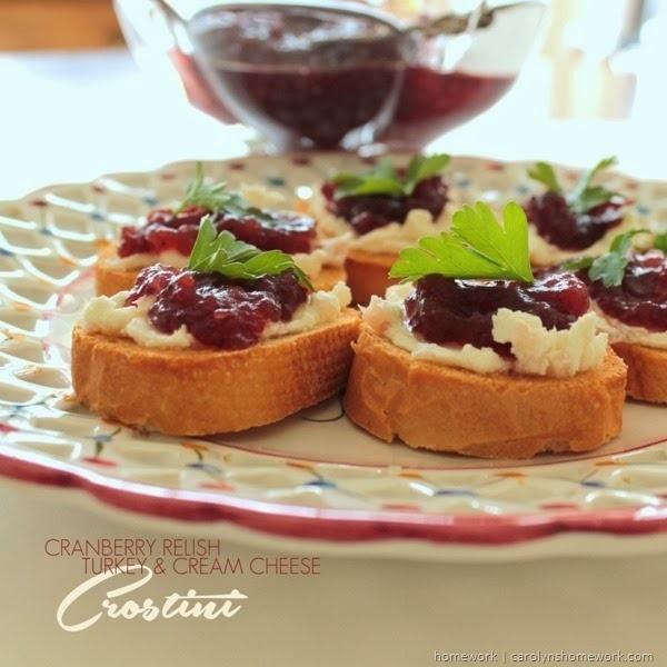 Cranberry Relish Crostini via homework   carolynshomework.com