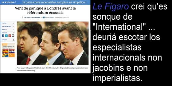 Yes Scotland Le Figaro