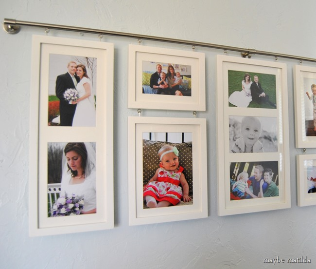 A photo gallery wall full of memories makes a great Mother's Day gift! Frame from RedEnvelope! #whatmomwants #ad