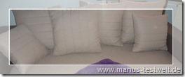 Couch braucht neue Kissen